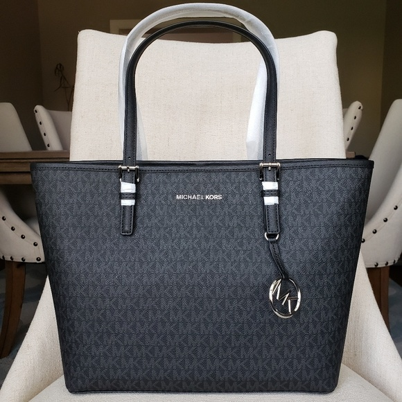 NWT Michael Kors MD Carryall Tote bag Black purse Boutique